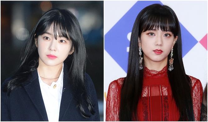 Female K Pop Idols Battle Of The Bangs Irene Vs Jisoo
