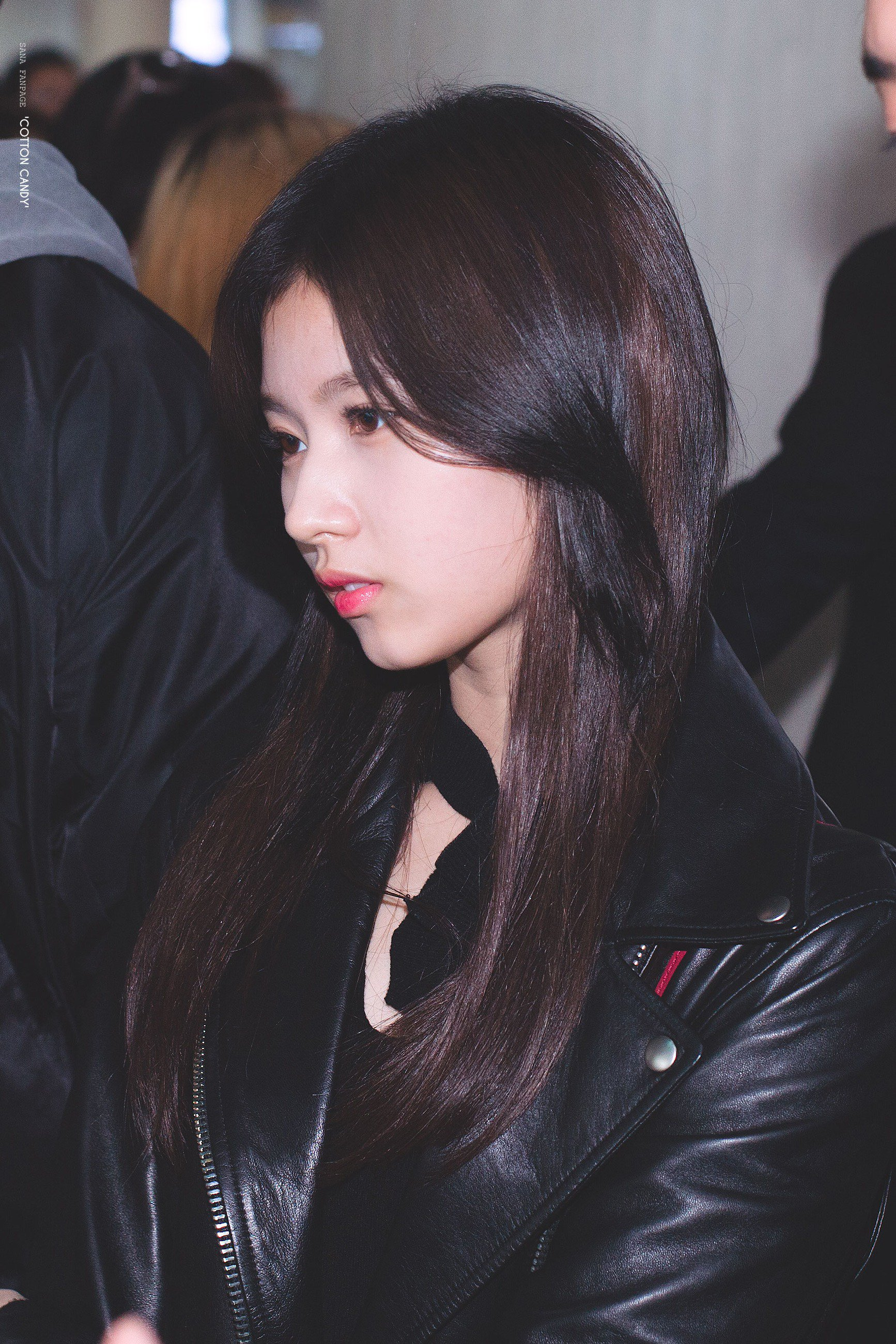 TWICE Sana Profile, TWICE Sana, TWICE Sana All Black