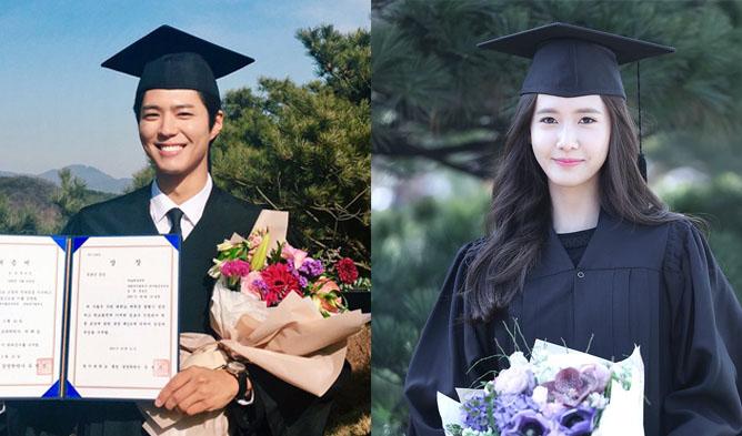 park bogum, snsd yoona, yoona, kpop idols graduation, kpop graduation,