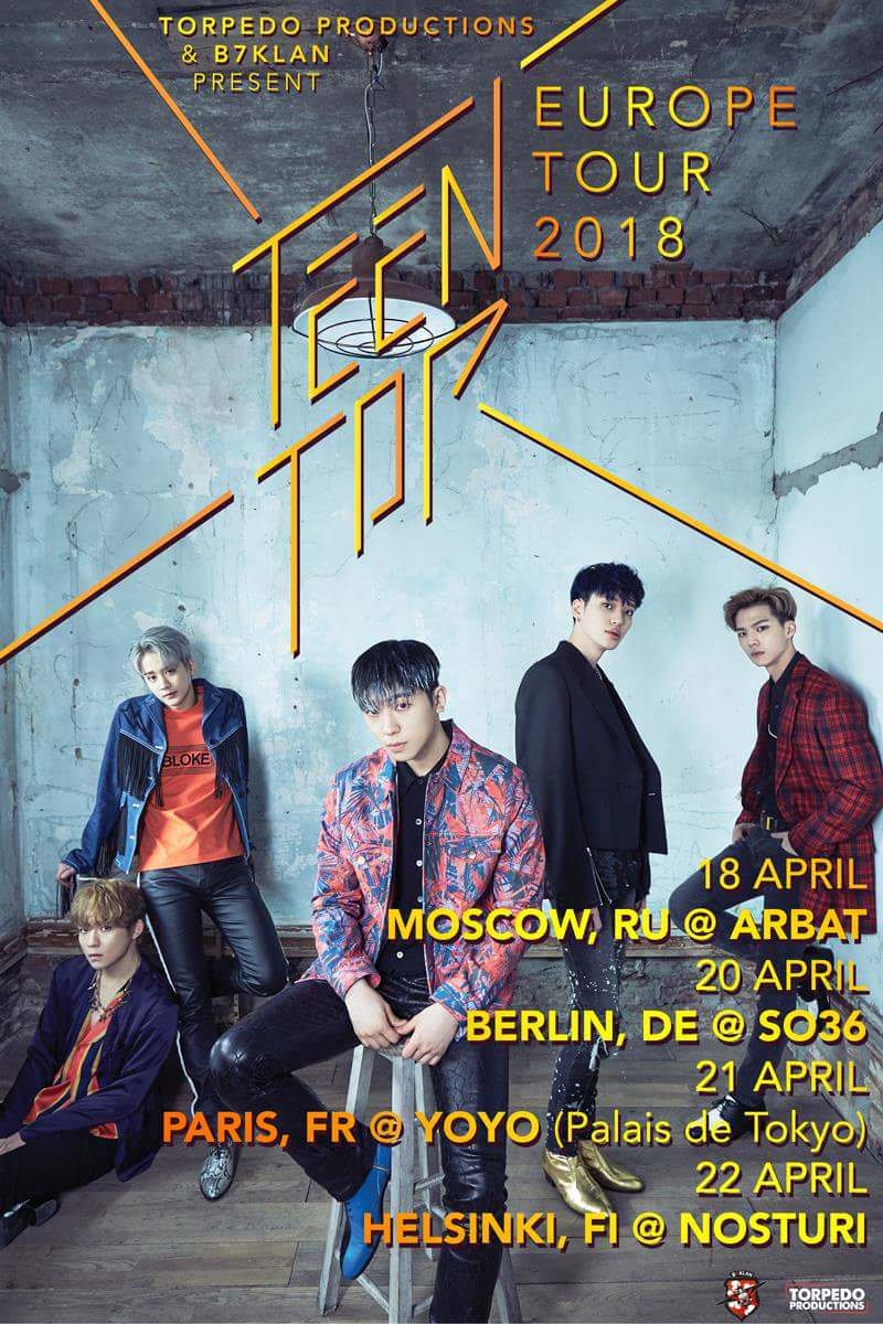 2018 Top 10 It Issues: TEEN TOP 2018 Europe Tour Dates In April • Kpopmap