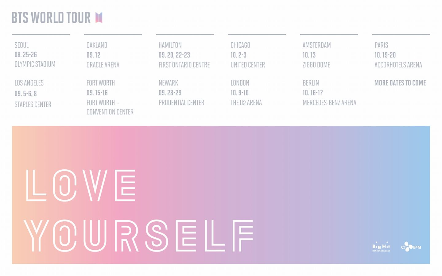 Bts World Tour Love Yourself Cities And Ticket Details