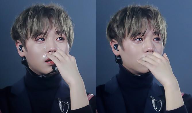 park jihoon, wanna one, wanna one parkjihoon, park jihoon crying, kpop idols crying