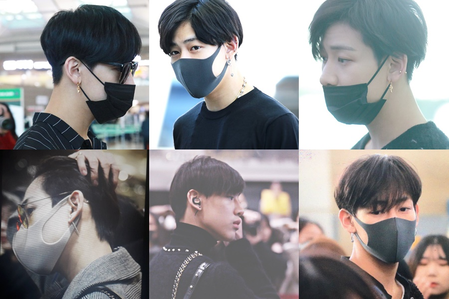 got7 bambam, got7 airport fashion, bambam airport fashion, bambam fashion, bambam earings, bambam clothes