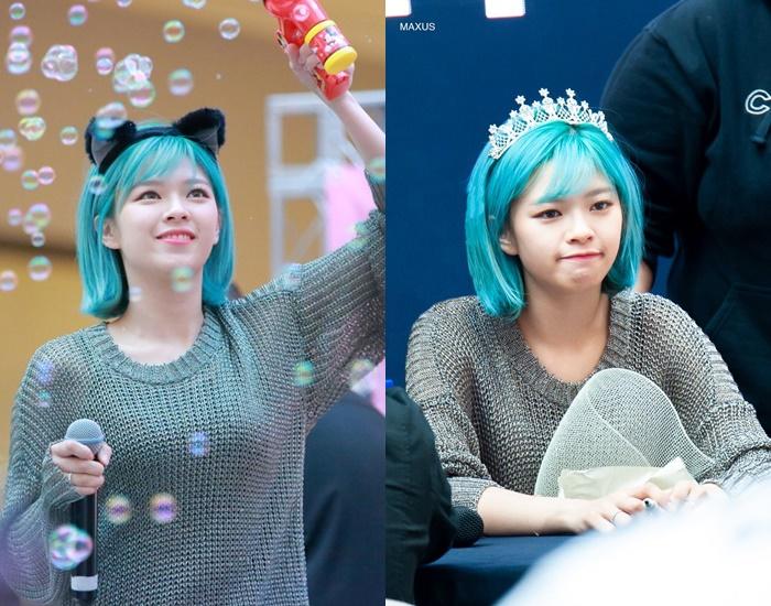 jeongyeon hairstyle, twice hair, jeongyeon blue, jeongyeon hair