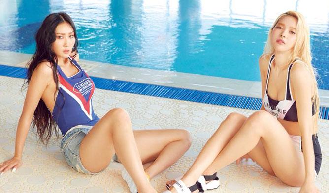 mamamoo profile, hwasa bikini, solar bikini, mamamoo sexy