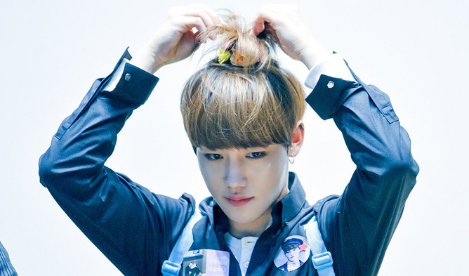 golden child, golden child jangjun, jangjun, jangjun apple hair, kpop idols with apple hair, apple hair, jangjun facts, golden child members, golden child facts
