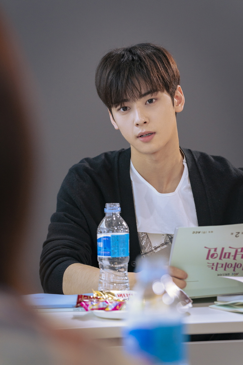 "Cha EunWoo's Behind The Cut Pictures From ""My ID Is Gangnam"