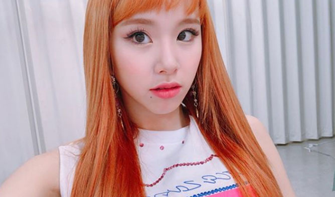 twice chaeyoung s hairstyle changes to orange kpopmap