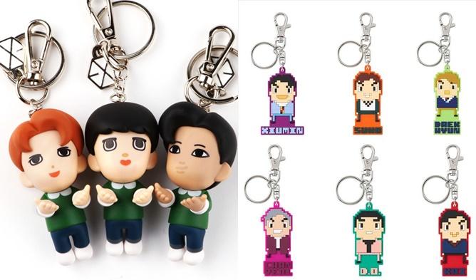 exo official goods, exo korean goods, exo japanese goods, exo keyrings