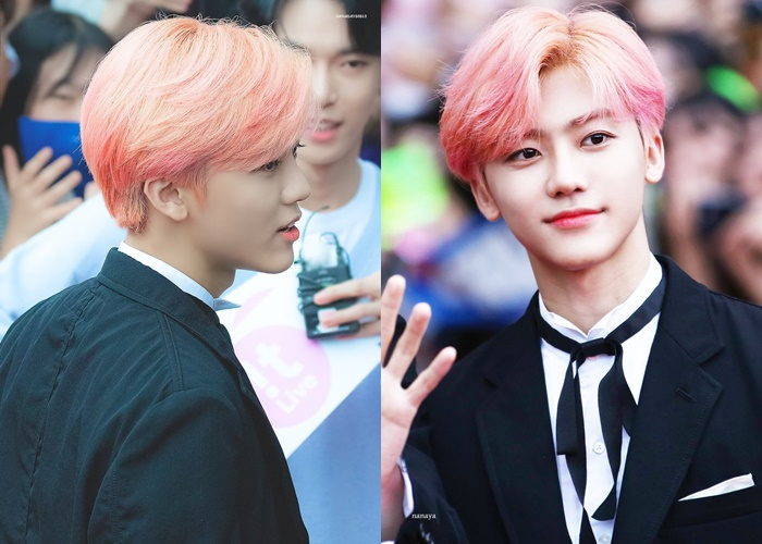 nct profile, nct jaemin, jaemin hair, jaemin pink