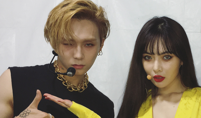 hyuna, pentagon, edawn, hyuna cube, pentagon members, pentagon profile, pentagon facts, pentagon height,