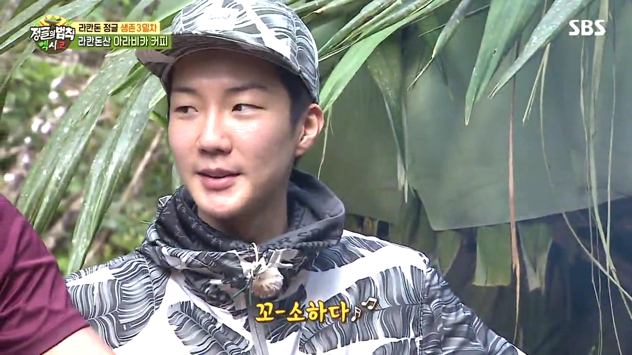 law of the jungle, idol law of the jungle, winner law of the jungle, hoony law of the jungle, winner bare face, hoony bare face