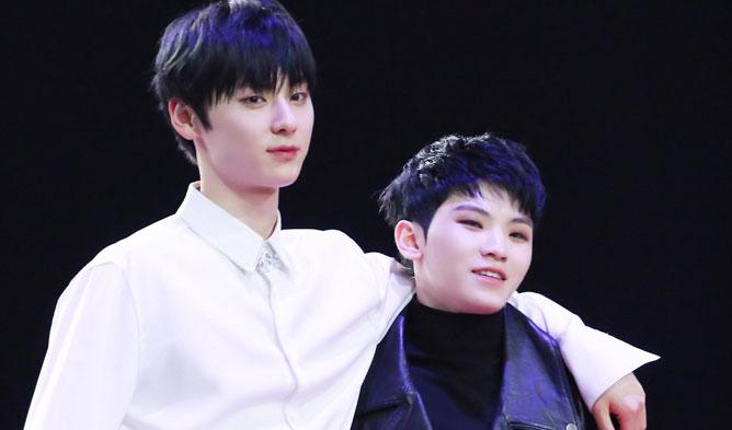 minhyun woozy, pledis boys, mama 2018