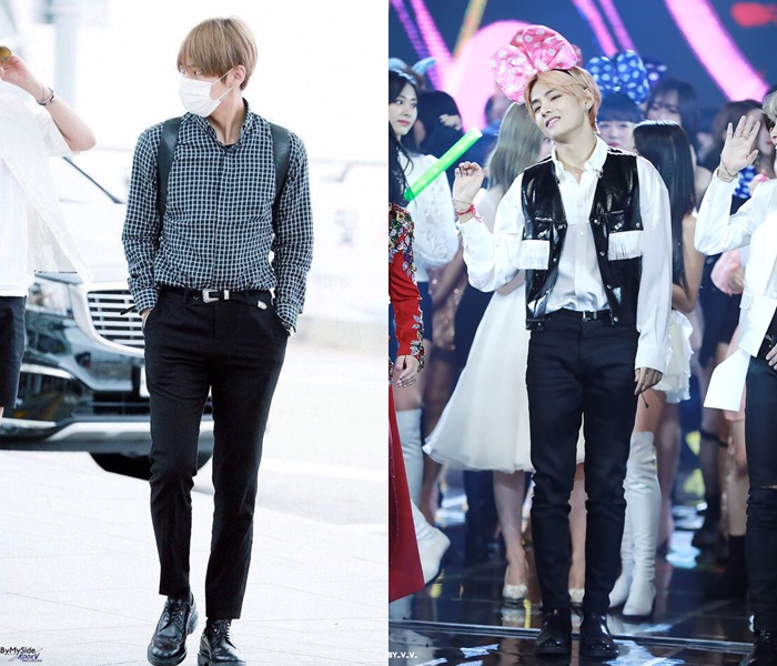 bts, anggota bts, usia bts, profil bts, tinggi bts, berat bts, bts v, bts taehyung, taehyung, celana taehyung