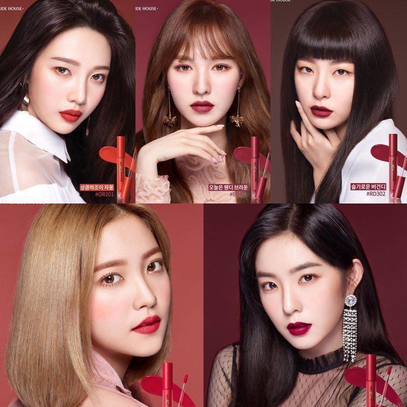etude house, etude house model, etude house lipstick, etude house eyeshadow, k beauty, red velvet