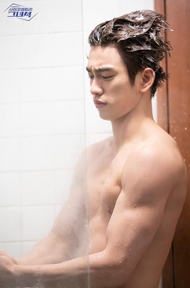 jinyoung shower scene, jinyoung he is psychometric, abs jinyoung, jinyoung shower, jinyoung drama 2019, jinyoung drama, jinyoung tvn