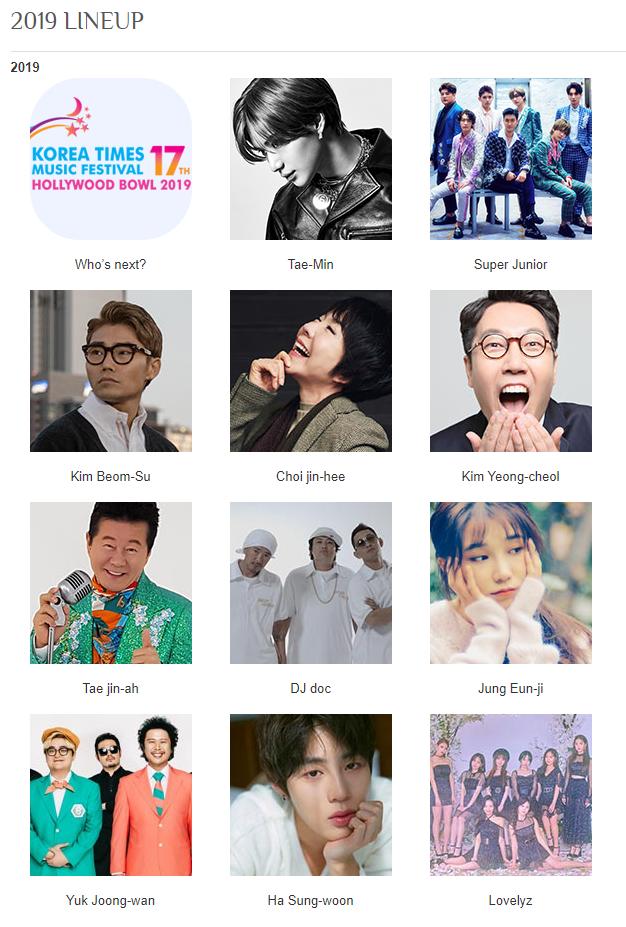 taemin, ktmf, ktmf 2019, ktmf lineup, ha sungwoon, lovelyz, jung eunji, super junior, ticket