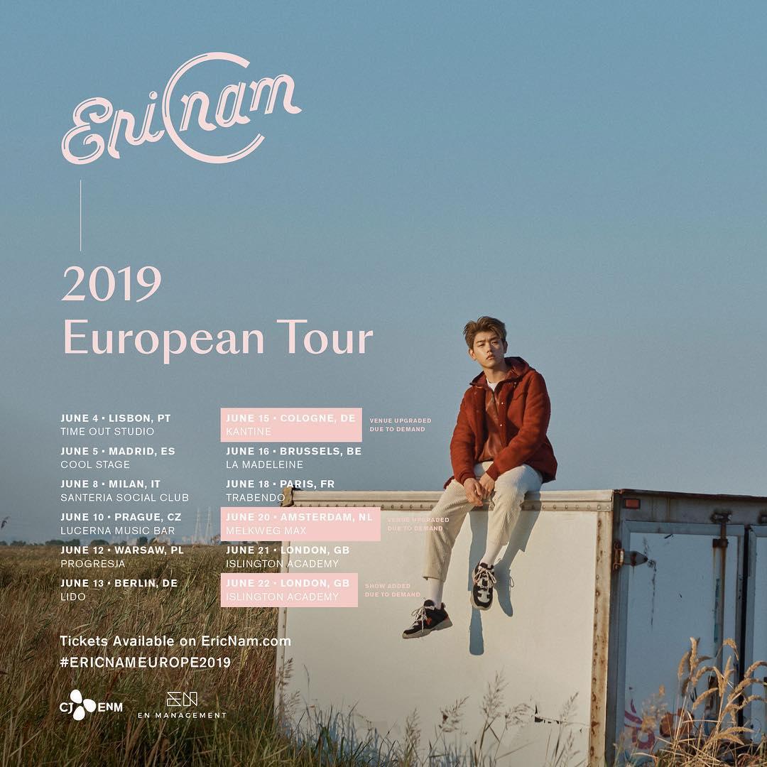 eric nam, eric nam profile, eric nam facts, eric nam highlight, eric nam europe tour, europe tour, eric nam solo, eric name comeback, eric nam concert