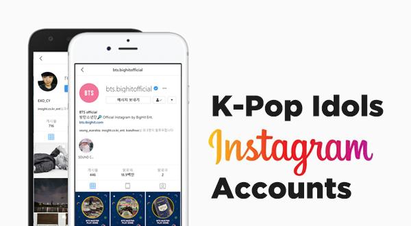 List of Kpop Idol Instagram Accounts | Kpopmap Profile