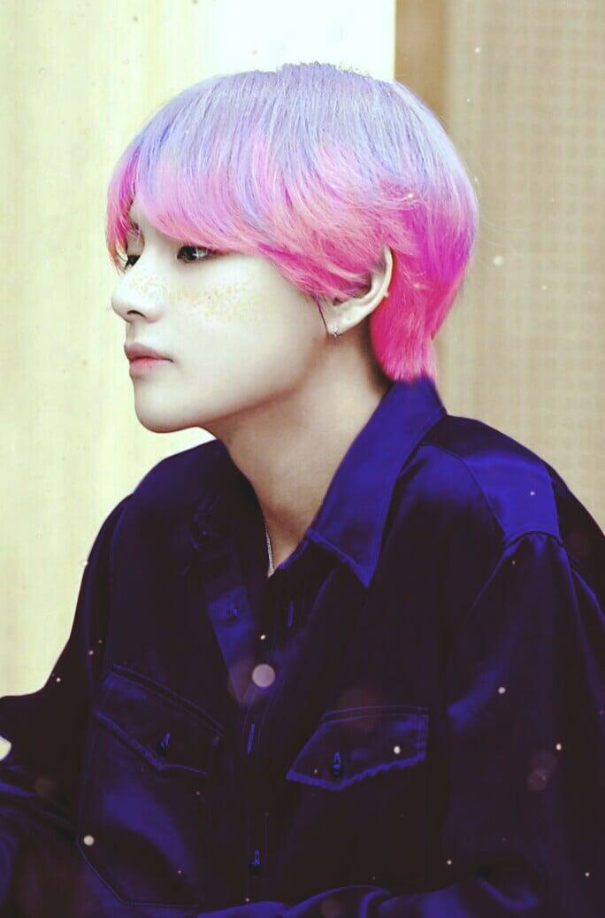 кпоп идол фиолетовые волосы