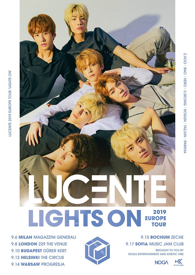 lucente, lucente europe tour, lights on 2019 europe tour, lucente world tour, lucente profile, lucente members