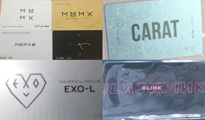 Fan Club Official Membership Card, kpop fan club, kpop membership card
