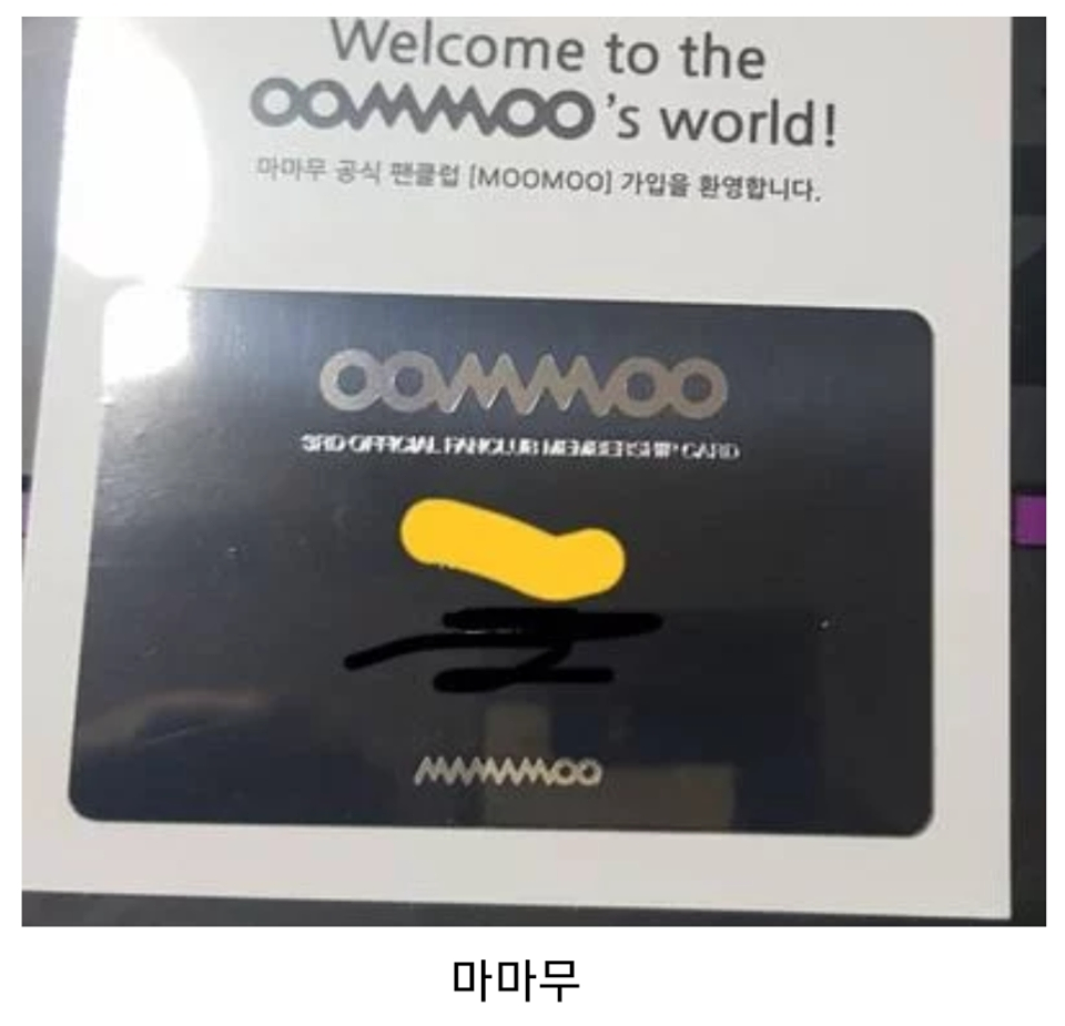 Fan Club Official Membership Card, kpop fan club, kpop membership card, mamamoo fanclub