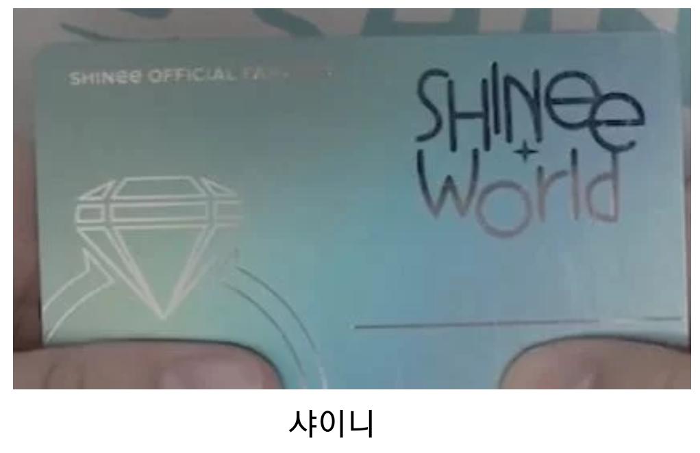 Fan Club Official Membership Card, kpop fan club, kpop membership card, shinee fanclub