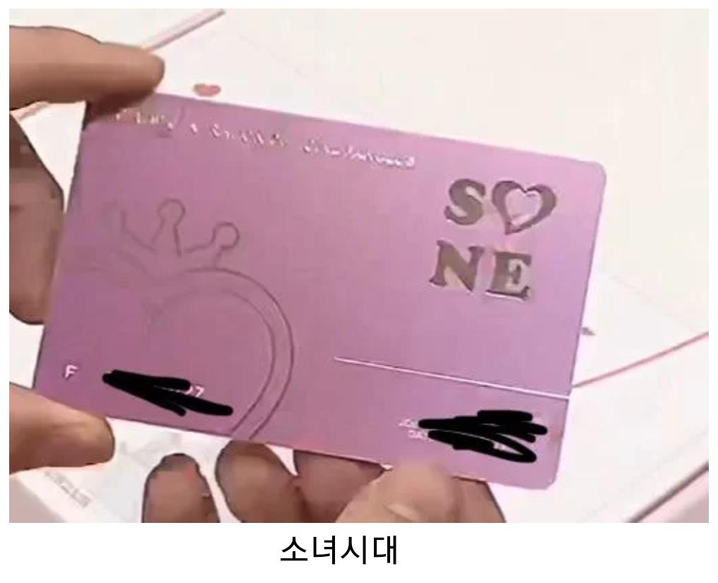 Fan Club Official Membership Card, kpop fan club, kpop membership card, snsd fanclub