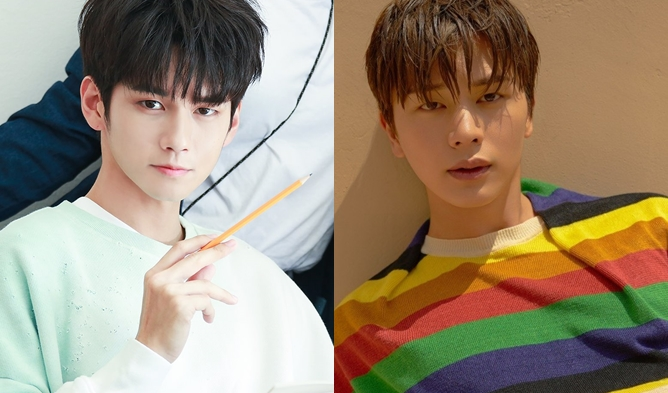 sungjae ong seongwu, celebrities same class, idol same school, actors same school