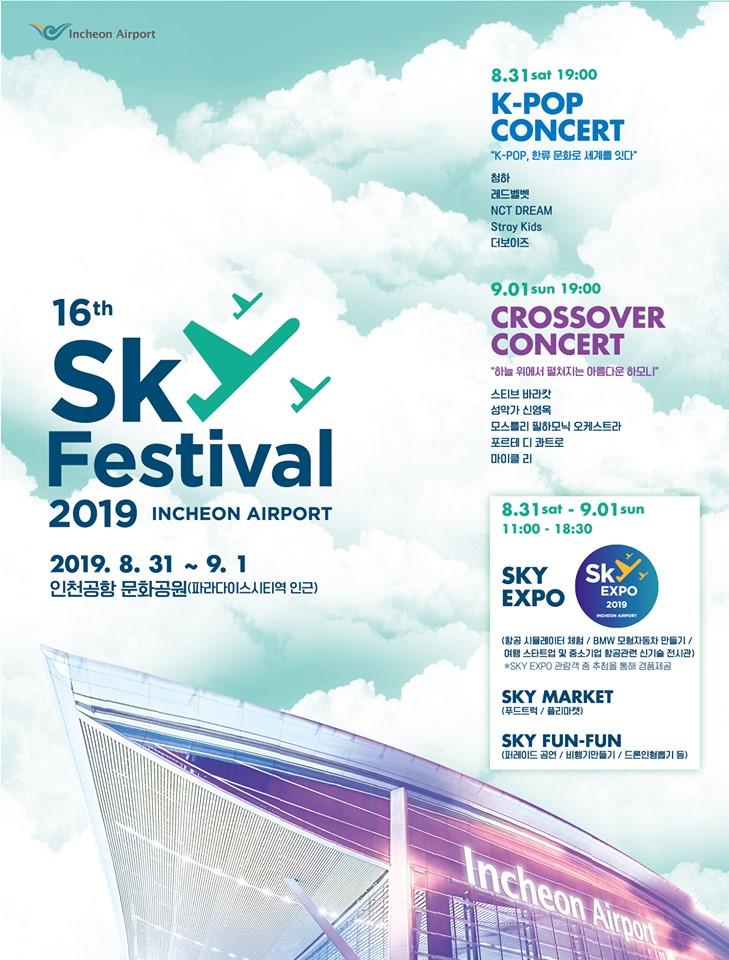 chungha, stray kids, red velvet, nct dream, stray kids, the boyz, lineup, sky festival lineup