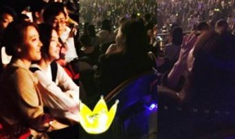 Taeyang's Girlfriend Min Hyorin Spotted In BIG Bang Tour In Sydney