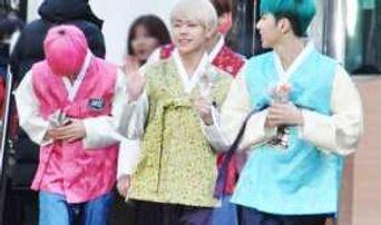 160205 Music Bank: IMFACT To Wear Hanbok