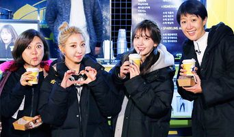 Fans Surprise Minzy with Coffee Trucks for 'Unnies' Slam Dunk 2'