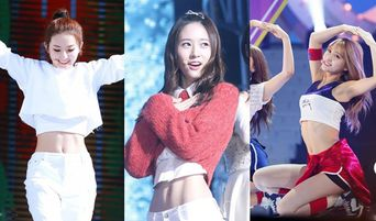 Firm Body Types with Abs of Girl Idols Picked as Girl's Wannabe