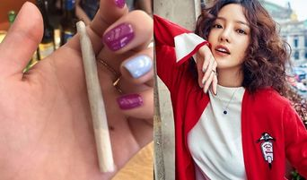 Goo HaRa Shocks Fans After Uploading Rolled Cigarette Photo To SNS