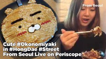 Cute Okonomiyaki in HongDae Street