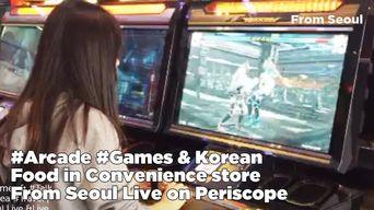Arcade Games & Korean Food in Convenience Store