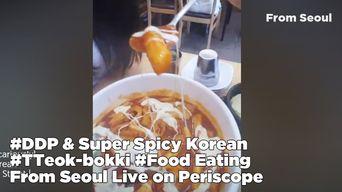 DDP & Super Spicy Korean Food 'Tteok-bokki Eating