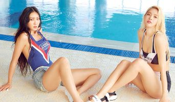 MAMAMOO HwaSa And Solar's Sexy Bikini Pictures For Photo Shoot