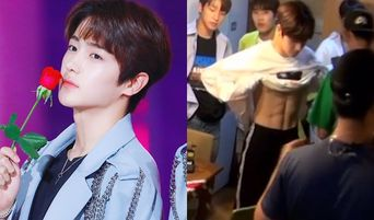 """THE BOYZ's HyunJae Reveals Naturally His Abs On 'Happy Arrived At Our House"""""""