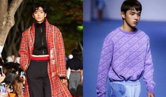 NCT Lucas And SF9 RoWoon Wow On The Runway Of 2018 Seoul Fashion Week