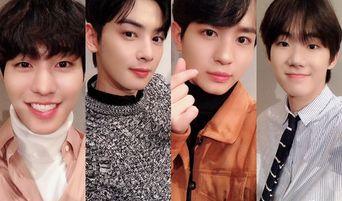 Cha EunWoo, Ahn HyoSeop, Jung YooAhn, And Bang JaeMin Released Cute Winking Videos For 'Top Management' Fans