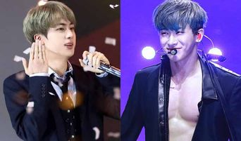 BTS's Jin Reacts To MONSTA X's WonHo Abs During MAMA 2018 Japan