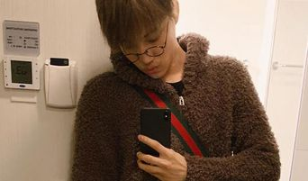 EXO's Kai Posted Selfies Of Him Wearing A Cute Bear Sweater