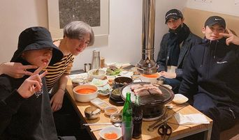 Famous 97-liners Take A Precious Picture As They Meet For A Meal, Bowling And Wine