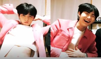 THE BOYZ's Hwall Flashes His Abs To Fans During V-Live