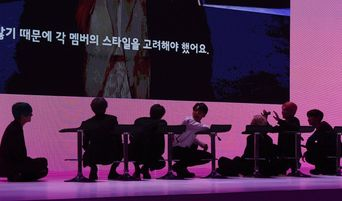 BTS Praised For Sitting On The Floor So Journalists Could See Subtitles During Press Conference