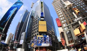 Fans Of BYNINE Put Up Ads On Reuters Time Square New York