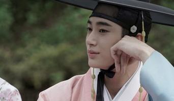 Byeon WooSeok, Drama 'Flower Crew: Joseon Marriage Agency' Poster Behind Shooting Scene
